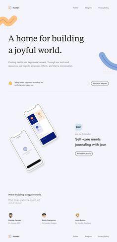 Human landing page design inspiration - Lapa Ninja Landing Page Inspiration, Web Design Inspiration, Design Ideas, Best Landing Pages, Build Your Own Website, Web Layout, Layout Design, Web Design Trends, Ui Web