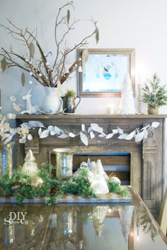 rustic glitter Christmas decor