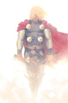 Kind of a Viking thing. Thor by Jarreau Wimberly Marvel E Dc, Marvel Comic Universe, Comics Universe, Marvel Heroes, Batman Christian Bale, Marvel Comics Art, Anime Comics, Marvel Comic Character, Marvel Characters
