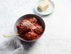 Veggie meatballs can be kind of a bummer but these ones, loaded with roasted veggies and lots of parm, are insanely good. You can make the mixture ahead of time and bake just before serving. …