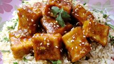 Orange Sesame Tofu