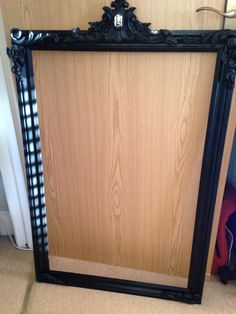 Handmade mirror frames customised for hair salon. Black ornate mouldings, check out my Etsy shop rinteriordesign