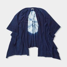 Shibori Silk Cape // Indigo