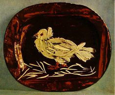 Pigeon     Artist: Pablo Picasso  Completion Date: 1947  Style: Naïve Art (Primitivism)  Period: Neoclassicist & Surrealist Period  Genre: animal painting  Technique: oil  Material: ceramic