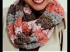 Πολυ ευκολος πλεχτος λαιμος με βελονακι Very easy crochet stagger stich ...