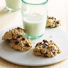 Oatmeal Peanut Butter Chocolate Chip Cookies | MyRecipes.com