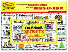 FREE!!! This Complete Set of Calendar SECRETS™ are the perfect calendar companion for classrooms using the SECRET STORIES® header cards for the days of the week, months of the year, and all four seasons are included, with SECRET STORIES® phonics patterns highlighted in the text!