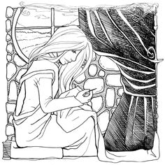 The Dark Lord and the Seamstress: An Adult Coloring Book Adult Coloring Pages, Coloring Books, Dark Lord, Learn To Sew, Fingers, Love Story, The Darkest, Knots, Ties