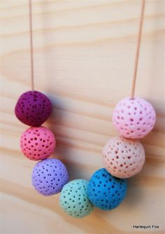 Beautiful Polymer Clay Necklace