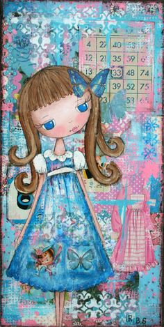 Becca's Dollhouse Art Studio: Patchwork Blooms/Dolly Daydreams