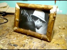 DIY log picture frame