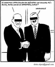 El Roto - Connivencia entre Gobernantes y Banqueros