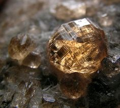...Grossular, cinnamon stone, hessonite, garnet from Jeffrey Mine in Asbestos, Quebec...