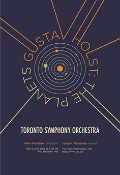 Toronto Symphony Orchestra Concert Poster by Yukiko Suzuki, via Behance