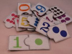 Matching game  Numbers  for preschool boys and di BusyBookBuilders