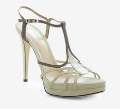 Fendi Bone, Brown And Silver Sandal
