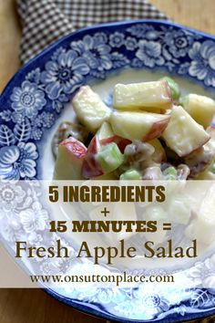 The perfect side dish for a fall dinner ~ quick, easy and oh so good!
