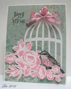 Great idea for the bird cage die.