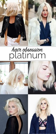 blonde hair inspiration, platinum blonde hair inspiration photos via @mystylevita