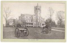Soldiers' Home, Washington DC, ephemera, old trading card for Singer Sewing