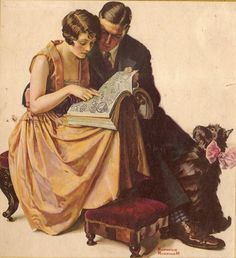 Rockwell...love this!  I have a plate with this picture on it that I got from my grandmother when my husband and I were engaged.