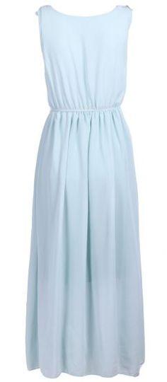 #SheInside Green Sleeveless Flowers Bandeau Chiffon Dress - Sheinside.com