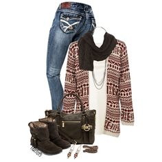 """Aztec sweater"" by fluffof5 on Polyvore"