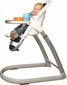 Phil and Teds high chair. I love the versatility, ease of cleaning and mostly the footrest.