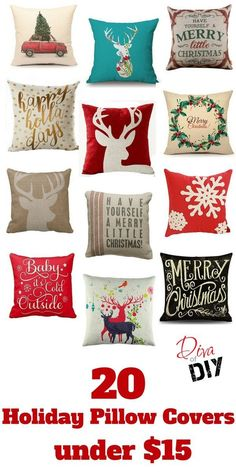 Why buy holiday pillows when you can get these must have pillow covers instead? These 20 Christmas pillow covers are stylish and easier to store with your seasonal decorations.