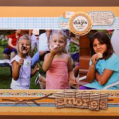 Smores by Lisa VenderVeen - Scrapbook.com - #scrapbooking #layouts #jillibeansoup