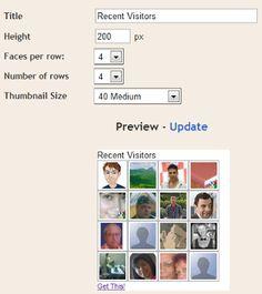 Recent Visitors gadget for Blogger / Google Friend Connect sites