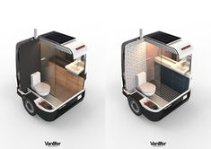 Portable luxury bathroom trailer: what you need to know about the Vanlifer Towable Bathroom - Van Life Small Camper Trailers, Off Road Camper Trailer, Small Campers, Cool Campers, Portable Bathroom, Portable Garage, Portable Toilet, Honda Element Camping, Ford Transit Campervan