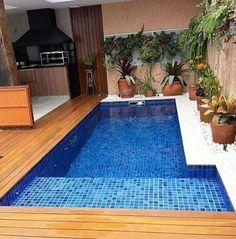 Backyard Pool Designs, Small Pools, Swimming Pools Backyard, Small Backyard Landscaping, Swimming Pool Designs, Kleiner Pool Design, Glam House, Hot Tub Garden, Small Pool Design