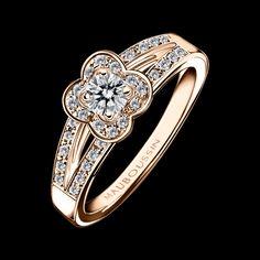 Bague Chance of Love n°2, or rose et diamants - Mauboussin