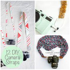 DIY Camera Strap Ideas via lilblueboo.com