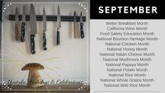 National Months, Holiday Dates, Heritage Month, California Wine, Food Safety, Celebrations, Stuffed Mushrooms, Holidays, Youtube