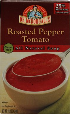 McDougall's Ready To Serve Roasted Pepper Tomato Soup #vegan
