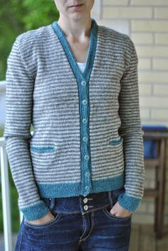 This is a variation of the ~ pattern 'Swallow Cardigan' by Helga Isager and Published in her knitting pattern book Amimono The Bird Collection.  Helpful notes too