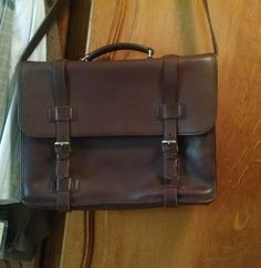 COACH Briefcase Attache Laptop Messenger Bag Dark Brown Mens EUC 5325  Can be purchased on Ebay  search seller: agift4thrift