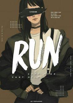 BTS / Run / Fanart by pepakomi