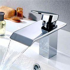 (Entrepôt UE) Robinet lavabo cascade contemporaine (finition chromée)  Robinetterie, Robinet Lavabo 67760838339b