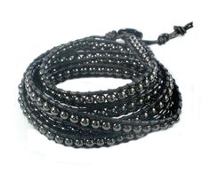 CXD Designs has a range of men's wrap-around hematite bracelets. www.cxddesigns.co.uk