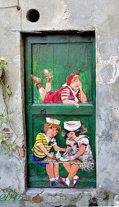 Fun door Albissola Marina, Savona, Italy