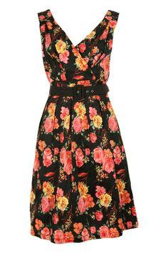 Elise Floral Crossover Dress - Womens Knee Length Dresses - Birdsnest Online