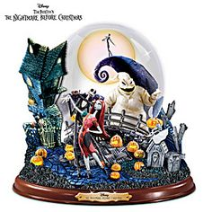 Disney Tim Burton's Nightmare Before Christmas Masterpiece Snowglobe
