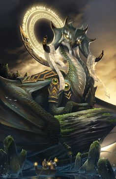 ArtStation - Mhir the Wise, Brian Joseph Valeza Dragon Fantasy Myth Mythical Mystical Legend Dragons Wings Sword Sorcery Magic
