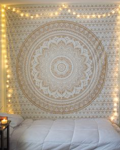 "Gold Glow Tapestry from thebohemianshop.com - Save 15% OFF your order using coupon code ""SAVE15"""