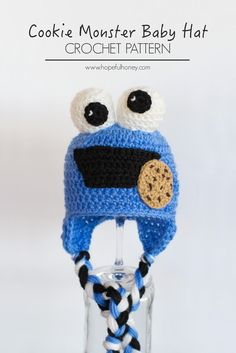Cookie Monster Inspired Baby Hat - Free Crochet Pattern