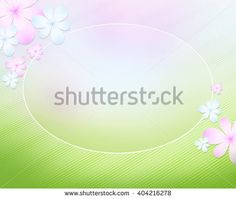 Abstract spring background vignette with flowers. Saturated colourful pink, blue and green spots create illusion of space. Rest, harmony, spring mood.
