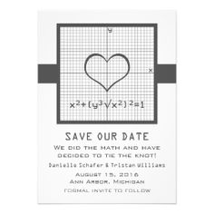 Save our Date - We did the math and have decided to tie the knot!